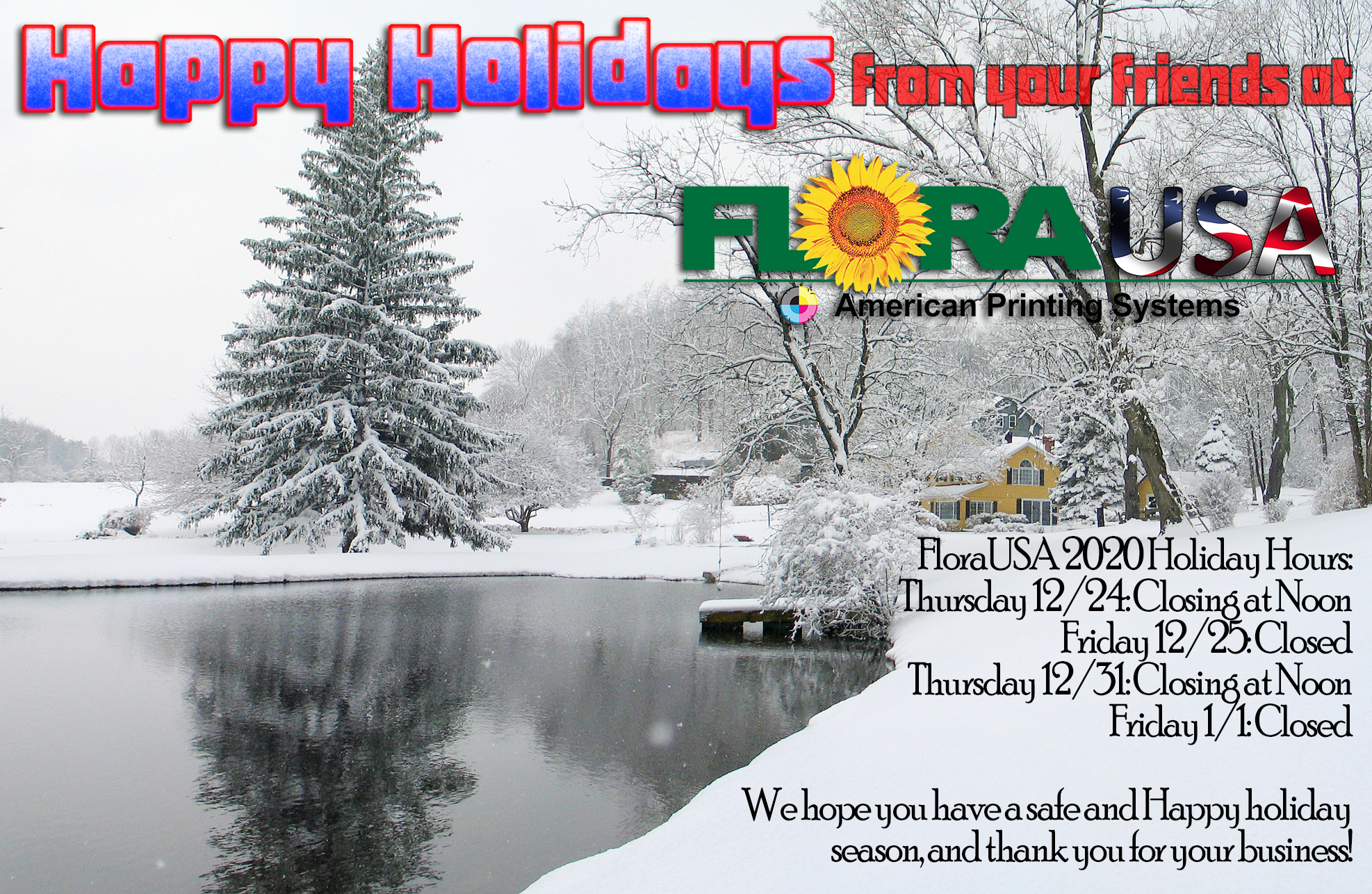 Happy Holidays from FloraUSA